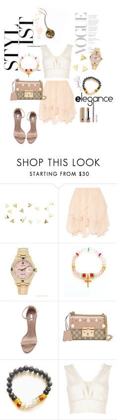 """""""Dainty Diva"""" by shop77spark ❤ liked on Polyvore featuring Chloé, Rolex, Schutz, Gucci and River Island"""