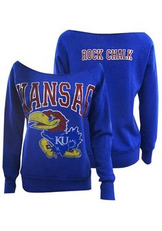 Kansas Jayhawks Fleece - Womens Blue Silver Foil Slouchy Fleece http://www.rallyhouse.com/shop/kansas-jayhawks-signorelli-kansas-jayhawks-fleece-womens-blue-silver-foil-slouchy-fleece-1962206?utm_source=pinterest&utm_medium=social&utm_campaign=Pinterest-KUJayhawks $54.99