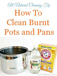Clean burnt pots and pans in minutes with two simple ingredients you probably already have in your pantry! Natural Living Tips , DIY projects , #DIY