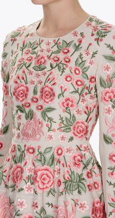 NEEDLE & THREAD PRE-SPRING 2017-pin by MHRodrigues-source:www.needleandthread.com Embroidered Dresses, Needle And Thread, Fashion Details, Chic Outfits, Euro, Beautiful Dresses, Florals, Lace Dress, Floral Tops