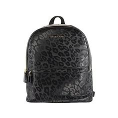 Michael Michael Kors Kieran Large Back Pack Black (Cheetah) ($229) ❤ liked on Polyvore featuring bags, backpacks, black, backpacks bags, cheetah bag, animal bag, black knapsack and black bag