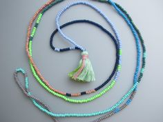 Summer Beaded Bright Bracelet Seed Bead Beach by TheRainbowFarmer