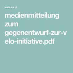 medienmitteilung zum gegenentwurf-zur-velo-initiative.pdf Digital Media, Mockup, Psychics