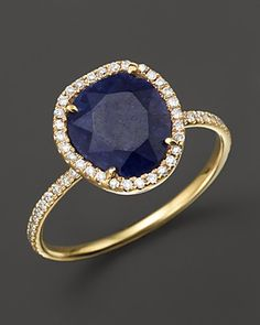 Meira T 14K Yellow Gold Blue Sapphire Ring with Diamonds, .20 ct. t.w. | Bloomingdale's