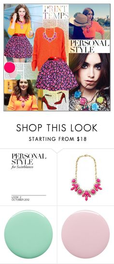 """""""Lily Collins Seventeen Magazine"""" by florenciagarcia ❤ liked on Polyvore featuring Topshop, RGB and Deborah Lippmann"""