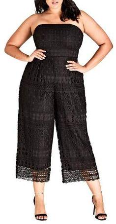 Plus Size Strapless Jumpsuit  plussize Plus Size Party Dresses b671fccb4