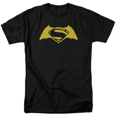 Superman Iron Fire Shield Adult Ringer T Shirt M