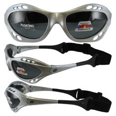 Silver Polarized Sunglasses Floating Water Jet Ski Goggles Sport Designed for the demands regularly encountered while Kite Boarding, Surfer, Kayak, Jetskiing, other water sports. - http://worldofkitesurfing.com/kitesurf/accessories/silver-polarized-sungla