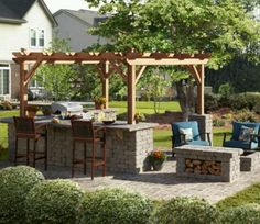 Love the kitchen and fire pit seating area!!