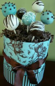 cake pops  @Kellie Tunell May put in a weekly order?!?!?!?  I can get the pretty boxes!  LOL