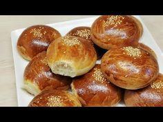 BRIOCHES DU BLED TRÈS MOELLEUSE FACILE (CUISINE RAPIDE) - YouTube Kaak Warka, Pogaca Recipe, Bled, Hamburger, Pains, Pistachio, Strawberries, Hamburgers, Burgers
