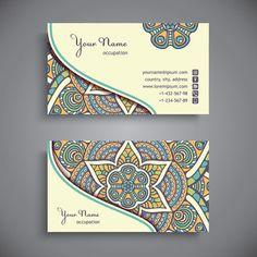 Ethnic pattern business card vintage vector Free vector in Encapsulated PostScript eps ( .eps ) vector illustration graphic art design format format for free download  2.84MB.  Vector Card, business, business card, card, ethnic, pattern, vintage