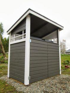 Deko 133: Roskakatos 572x House Colors, Garage Doors, Shed, Gardens, Outdoor Structures, Outdoor Decor, Home Decor, Deco, Decoration Home