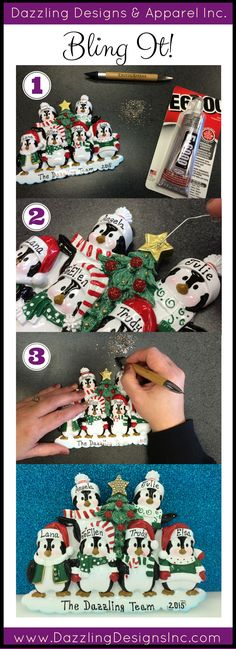 Quick tutorial - How to Bling a Christmas Ornament