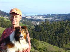 Rhumba loves hiking in Marin, overlooking San Francisco.