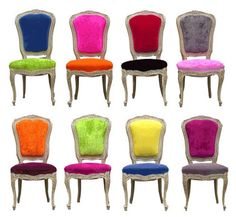 Old Styles, New Fabrics: Funky Reupholstered Chairs