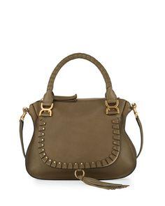 Chloe Marcie Medium Studded Satchel Bag 6d3273c91f51b