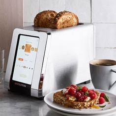Every toaster on the market – regardless of price tag – has used the same heating coil technology invented in the – until now. This innovative appliance by Revolution Cooking™ features smart technology that toasts bre… Smart Kitchen, Kitchen Tools, Kitchen Gadgets, Cooking Gadgets, Cooking Tools, Kitchen Ideas, Kitchen Racks, Kitchen Craft, Cooking Utensils
