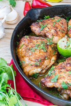 Cilantro Lime Chicken Skillet Dinner Idea