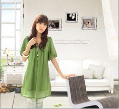 Gasa de manga corta ropa de maternidad de moda vestido de una sola pieza 2014 venta caliente 0607 003-inDresses de Ropa y accesorios en Aliexpress.com | Grupo Alibaba
