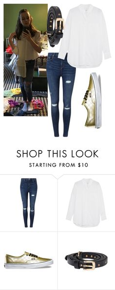 """My OOTD"" by mack-et-la-mode ❤ liked on Polyvore featuring Miss Selfridge, Equipment and Vans"