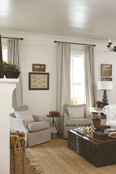 planked walls, white room, cottage decor.