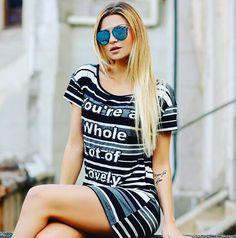 Vestido T-Shirt super confortável e muito estiloso, aquela peça que tem que ter para arrasar nessa primavera verão 2018.