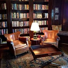 Best Old Home Library Room Design And Decorating Ideas - Home Library Rooms, Home Library Design, Dream Library, Home Libraries, Home Office Design, House Design, Cozy Library, Library Study Room, Reading Library
