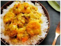 Recette Crevettes au curry au lait de coco
