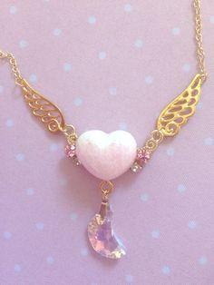 "sugar-honey-iced-tea: ""I got this beautiful piece from a handmade artists stall in Ikebukuro "" Kawaii Jewelry, Kawaii Accessories, Cute Jewelry, Jewelry Box, Jewelery, Jewelry Accessories, Fashion Accessories, Fashion Jewelry, Magical Jewelry"