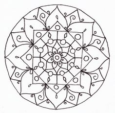 mandalas to print and color | Mandala Lineart by CatzillaDK