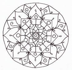 Drawing mandala line Henna Mandala, Mandala Art, Mandala Coloring Pages, Coloring Book Pages, Mandala Design, Simple Mandala, Tangle Patterns, Preschool Art, Indian Art