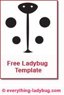ladybug template for the artistically challenged