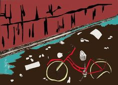 I had a bike, I loved a bike, a bike got stolen and probably ended up in the docks. Bike, Illustrations, My Love, Movies, Movie Posters, Art, Bicycle, Art Background, Film Poster