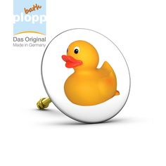 """bath plopp, Stöpsel für die Badewanne """"Quietsche-Ente/Rubber Duck""""   #Bad #plopp #bath #bathroom #Badezimmer #Geschenkidee #Badewanne"""