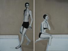 Khaled Takreti, Love Boat, 2011, Acrylic on canvas, 195 x 260 cm