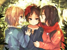 The Shingeki no Kyojin trio, chibi style!  #anime #attackontitan