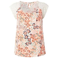 Buy White Stuff Lola Tee, Fluro Coral from our Women's Shirts & Tops range at John Lewis & Partners. Floral Embroidery, Tees, Shirts, Scoop Neck, Floral Prints, Formal Dresses, Pretty, Sleeves, Tee Shirts
