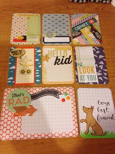 """Handmade set of cards for Project Life or pocket scrapbooking """"Boys boys boys"""""""