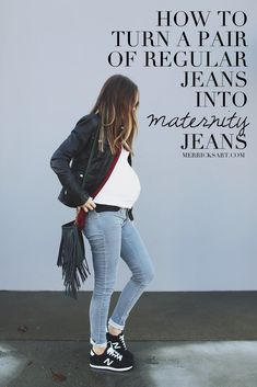 MAKE YOUR OWN MATERNITY JEANS
