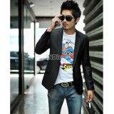 Casual Men Slim Fit Long Sleeve Formal Black Blazers,  http://www.shopcost.co.uk/