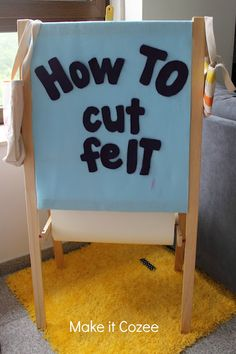 The secret to cutting felt without pinning or tracing the pattern with a marker.  Super easy!