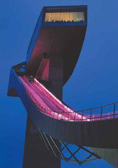 Bergisel Ski Jump, Innsbruck, Austria, 2002 - Zaha Hadid -  Photo by Helene Binet