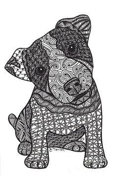 Fou Jack - Jack Russell Terrier Imprimer Par Dianne Ferrer | Mad Jack - Jack Russell Terrier Print By Dianne Ferrer♥•♥•♥