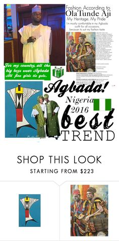 """""""Agbada Nigeria best fashion trends #2016"""" by yemmy-made ❤ liked on Polyvore featuring Balmain, NOVICA, country, men's fashion and menswear"""