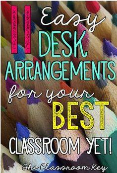 11 Desk Arrangements for your Best Classroom Yet, Ideas for classroom arrangement perfect for elementary teachers