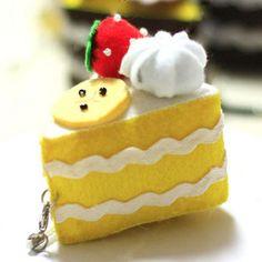 手工DIY材料包柠檬味迷你蛋糕挂件挂饰手机…_来自momo176的图片分享