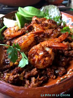 Spicy Chorizo and Shrimp - La Piña en la Cocina