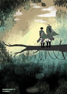 Attack on Titan (Shingeki no Kyojin) - Erwin Smith x Levi Ackerman - Eruri