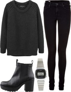 All Black, Everything Outfit.